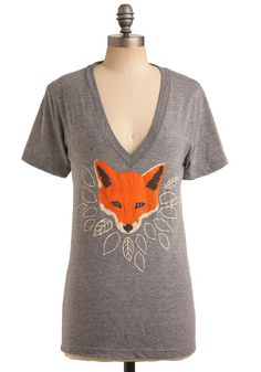 Foxes are my favorite animals, so naturally I love this tee! Can't beat the delicious V-neck either.