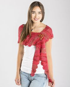 Sizzling Scalloped Shawlette Free Crochet Pattern