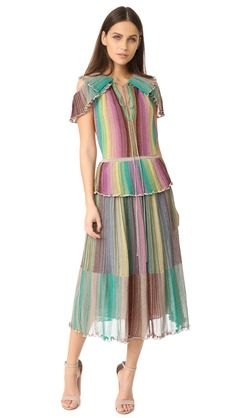 Plisse Dress, Bold Stripes, Missoni