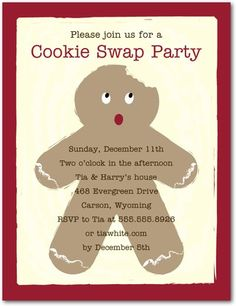 Studio Basics: Holiday Party Invitations Gingerbread Party - Front : Yogurt