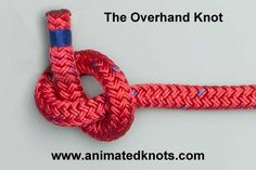 Overhand knot and others animated! This is cool.
