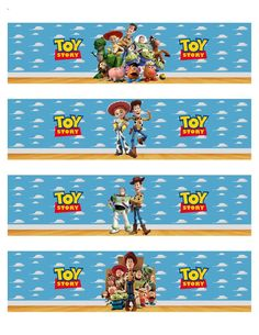 Toy Story Inspired Water Bottle Labels by PinkyandBluesy on Etsy Fête Toy Story, Bolo Toy Story, Toy Story Theme, Toy Story Party, 2 Birthday, Toy Story Birthday, Birthday Ideas, Buzz Lightyear, Desenho Toy Story