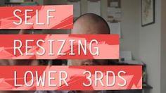 Self Resizing Lower Thirds - ECAbrams - YouTube