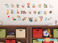 Alphabet Fun Fabric Wall Decals - Sunny Decals