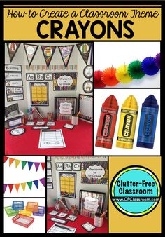 Are you planning a crayons themed classroom or thematic unit? This blog post provides great decoration tips and ideas for the best crayons theme yet! It has photos, ideas, supplies & printable classroom decor to will make set up easy and affordable. You can create a crayons theme on a budget!