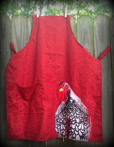 New Red Chicken One Pocket Full Apron. $17.99 (free shipping)