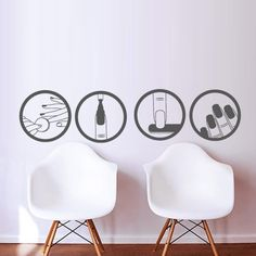 Nails Wall Decal Salon Polish Design Master Varnish Polish Manicure M1378. Thank you for visiting our store!!! Please read the whole description about this item and feel free to contact us with any questions! Vinyl wall decals are one of the latest trends in home decor. Vinyl wall decals give the look of a hand-painted quote, saying or image without the cost, time, and permanent paint on your wall. They are easy to apply and can be easily removed without damaging your walls. Vinyl wall...