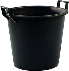 The Pasquini & Bini heavy-duty large plant pots are made of recycled rubberised plastic, black in colour like most grower pots, these are extremely heavy-duty pots made to last year after year in all weather conditions and temperatures. Two handles are attached either side of the top of the pot to enable you to move the pot and plant with ease. The size of these pots is ideal for many uses including potting on, growing specimen plants, shrubs, fruit bushes, bamboos and small trees. The wide… Large Plant Pots, Plastic Plant Pots, Plastic Planter, Large Plants, Plastic Containers, Tree Planters, Potted Trees, Potted Plants, Planter Pots