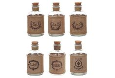 Use these to hold the salt & pepper    Bottles w/ Burlap Wrap, Asst. of 6 on OneKingsLane.com