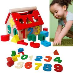 Kids Baby Educational Toys Wood House Building Intellectual Developmental Blocks in Baby, Toys for Baby, Developmental Baby Toys | eBay