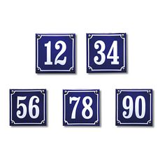 Emaille oud Hollandse huisnummers Flip Clock, Google Images, Holland, Catalog, Blue And White, Dutch, Diy, Stickers, Breakfast