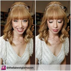 "Gorgeous old fashioned vintage bridal hairstyle featuring our ""Twyla"" bridal hair vine!"