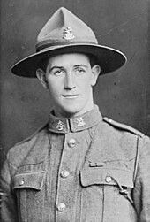 Corporal Leslie Andrew pictured in 1918,after receiving his Victoria Cross.