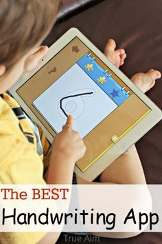 The best handwriting app for kids, 3 different types to choose from, multiple users, printable worksheets