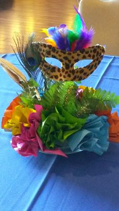 Atlanta Events Extraordinaire Party Blog Brazilian Carnival Themed Centerpiece www.atlantaevents.biz
