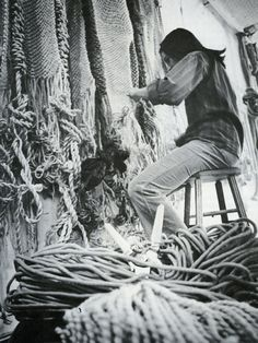 Francoise Grossen, textile artist from beyond craft: the art of fabric by mildred constantine and jack lenor larsen, 1972