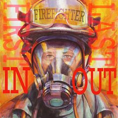 Firefighter, framed art print from Steve Henderson Collections celebrating heroism, hard work, and caring for others Artist Canvas, Canvas Art, Canvas Prints, Framed Art, Framed Prints, Wall Art, Wall Decor, Canvas Size, Wrapped Canvas