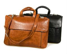 Paolo Rossi Leather Laptop Shoulder Briefcase | South Africa