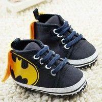 Wish   Latest Infant Baby Toddler boy batman Soft Sole Crib Shoes 0-18 Month