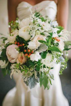 Beautiful bouquet: http://www.stylemepretty.com/little-black-book-blog/2015/03/31/elegant-summer-estate-wedding/ | Photography: Michelle Gardella - http://www.michellegardella.com/