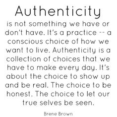authenticity. so rare.