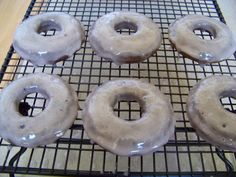 Baked Blueberry Doughnuts  theinvoluntaryhousewife.com  Testing internet recipes so you don't have to.  A Worthy Mess