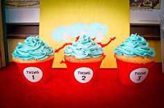 Hostess with the Mostess® - Seuss Birthday Idea Retro Birthday Parties, Dr Seuss Birthday Party, Cousin Birthday, 4th Birthday, Birthday Ideas, Snack Bar, Triplets, Twins, Fairy Cakes