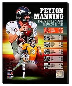 Photofile Peyton Manning Single Season TD Record Sports Photo - 8 x 10 Denver Broncos Football, Go Broncos, Broncos Fans, Football Memes, Football Season, Manning Football, Football Baby, Football Players, Tennessee Volunteers Football