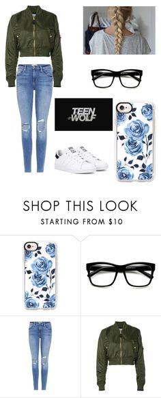 """""""Car chase"""" by kendall-bostic ❤ liked on Polyvore featuring Casetify, Frame, Alpha Industries and adidas Originals"""
