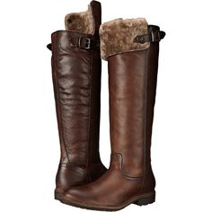 Frye Mara Button OTK (Dark Brown Soft Classic Leather) Cowboy Boots ($290) ❤ liked on Polyvore featuring shoes, boots, brown, knee-high boots, over-knee boots, knee high leather boots, brown cowgirl boots, cowgirl boots and brown knee high boots