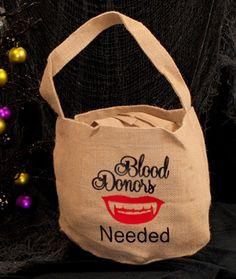 Halloween bucket bag candy trick or treat bag