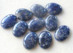 Sodalite Blue Cabochon Gemstone Pendant by CatsBeadKitsandMore, $3.99