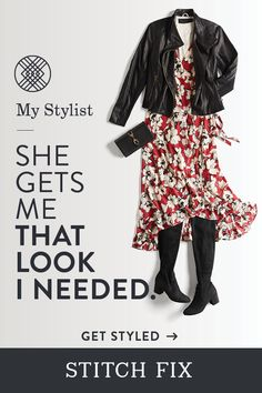 "Take your fall outfit from ""it's working"" to ""wow!"" Your Stitch Fix Stylist is a master at finding just the right pieces to complement your fit, taste and budget. She'll work her style magic for you. Schedule a Fix today. Free shipping & returns."