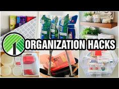 - YouTube Dollar Tree Organization, Household Organization, Craft Organization, Organizing Tips, Storage Hacks, Storage Solutions, Storage Ideas, Lord Help Me, Diy Home Crafts
