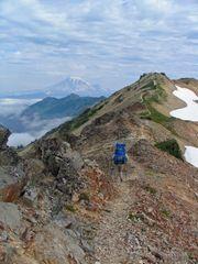 Beautiful Ridge Line on the Pacific Crest Trail in Washington
