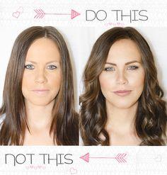 Same girl, Same Day unedited!  do this not that...Tara-Maskcara-Post-Beauty Blunders