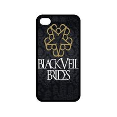 Customize Black Veil Brides Back Case for iphone 4 4S JN4S-1600 ($2.83) ❤ liked on Polyvore