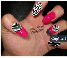 Nail polish distraction.. awesome nails..