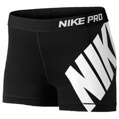 93bc4d4781f3be Hit the gym with all you ve got in the Nike® Women s Pro Logo Compression  Shorts.