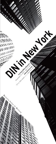 exhibition poster :: DIN in new york