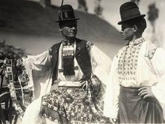 size: Photographic Print: Two Men in Hungarian Traditional Dresses Richly Embroidered : Young Frankenstein, Folk Costume, Costumes, Two Men, World Cultures, Traditional Dresses, Riding Helmets, Beautiful People, Poster