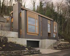 Modern House Portland Modern Mountainside House In Portland Oregon