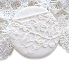 impress vintage lace into polymer to make texture plates, etc...preserves beauty of the lace  by Iaona Weber  pcd