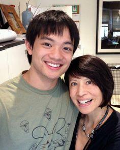 Osric Chau and Lauren Tom