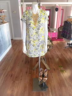 """""""Like"""" us on Facebook & following us on Instagram @ DRESSMINGLE. WE SHIP! Come shop with us! #dressmingle #ootd #lotd #closet #wardrobe #necklace #earrings #shoes #shoes #ohmyshoes #handbags #clothes #apparel #shopping #clutch #ootd #lotd #ootn #fashion #style #sexy #yellow #snakeprint #summerdress #nudeheels"""