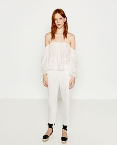 ZARA - PROMOTIONS - STRAIGHT-CUT MID RISE TROUSERS