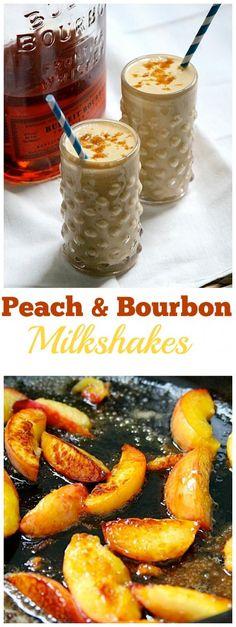 Burnt Peach and Bourbon Milkshakes - yes yes and YUM!