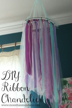Teen Girl Bedroom Decor ribbon chandelier