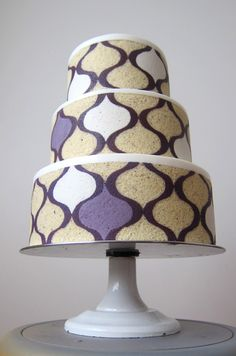 modern entremet wedding cakes by MRobin Cake Design | via junebugweddings.com
