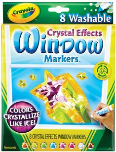 Amazon.com: Crayola Window Markers with Crystal Effects: Arts, Crafts & Sewing